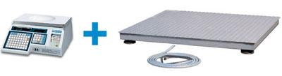 Торговые электронные весы CAS LP v1.6 и грузоприемная платформа СКЕЙЛ СКП