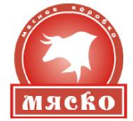 Логотип предприятия по изготовлению мясных изделий МясКо