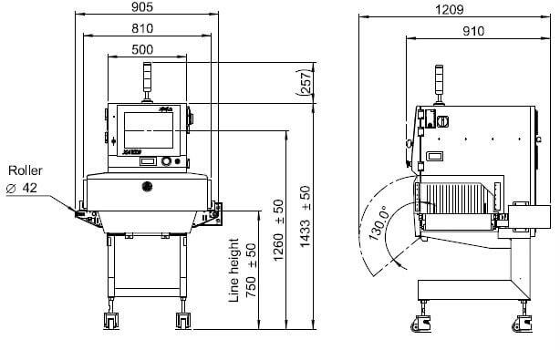 Габариты XAVIS FSCAN 4280D